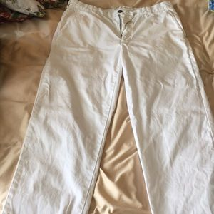 White Brooks Brothers Chino Pants